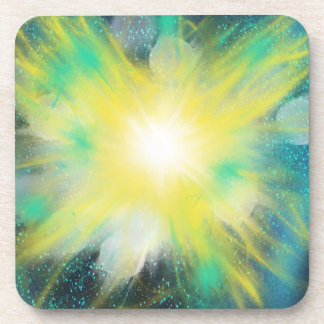 Yellow Fantasy Space Star Art Painting Design Coaster