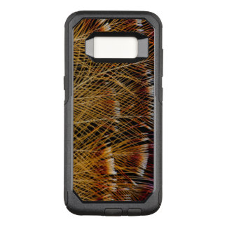 Yellow Feather Design Abstract OtterBox Commuter Samsung Galaxy S8 Case