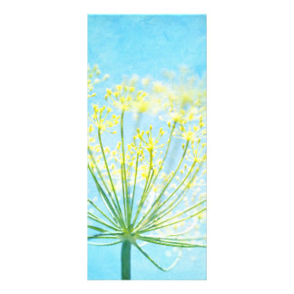 Yellow Fennel Flowers on Blue Rack Card