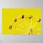 Yellow Ferris Wheel Poster