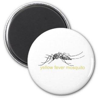 Yellow Fever Mosquito 6 Cm Round Magnet