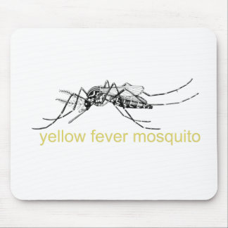 Yellow Fever Mosquito Mouse Pad