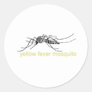 Yellow Fever Mosquito Round Sticker