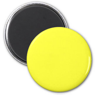 Yellow #FFFF33 Solid Color 6 Cm Round Magnet