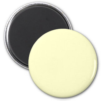 Yellow #FFFFCC Solid Color 6 Cm Round Magnet