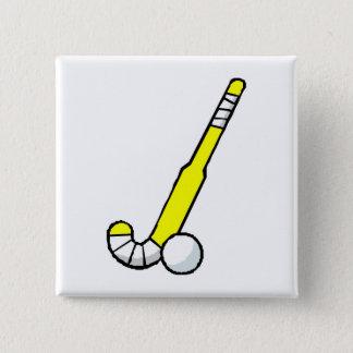 Yellow Field Hockey Stick 15 Cm Square Badge