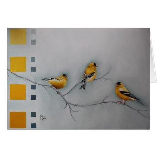 Yellow Finche Greeting Card