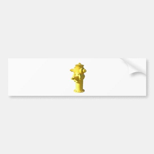 Yellow Fire Hydrant Bumper Sticker