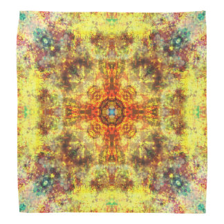 Yellow fire mandala bandana