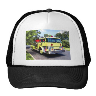 Yellow Fire Truck Trucker Hat