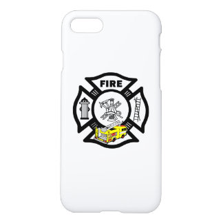 Yellow Fire Truck Rescue iPhone 7 Case