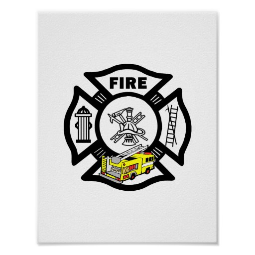 Yellow Fire Truck Rescue Print