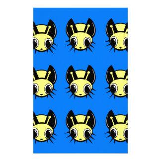 Yellow fireflies stationery paper