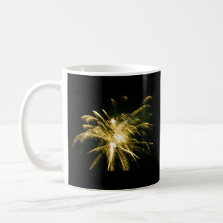 Yellow Fireworks Mug