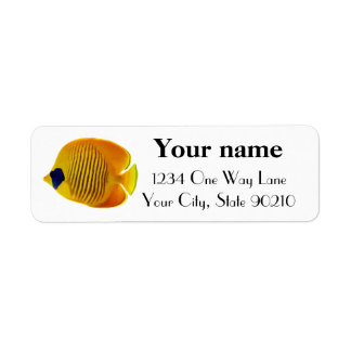 Yellow Fish Return Address Label