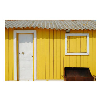 Yellow fisherman house poster