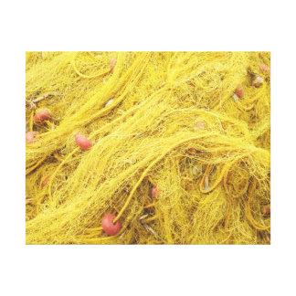 Yellow Fishing Nets (Greece) Canvas Print