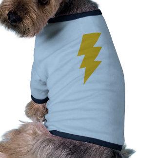 Yellow Flash Lightning Bolt Doggie T Shirt