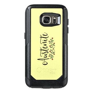 Yellow Floral Austenite OtterBox Samsung Galaxy S7 Case