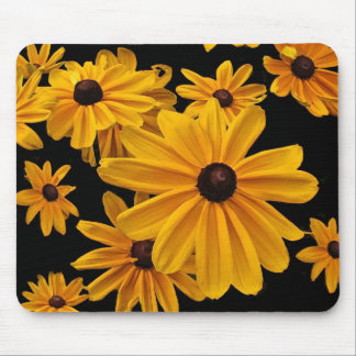 Yellow Floral Black Eyed Susan Flowers Mousepad