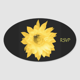 YELLOW FLORAL BLOOM STICKER