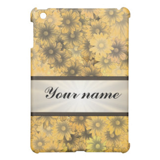 Yellow floral daisy case for the iPad mini