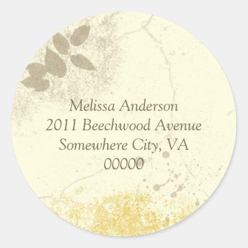 Yellow Floral Garden Address Sticker