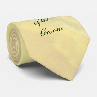 Yellow Floral Grandfather of the Groom Tie