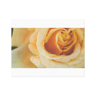 Yellow floral heart canvas print