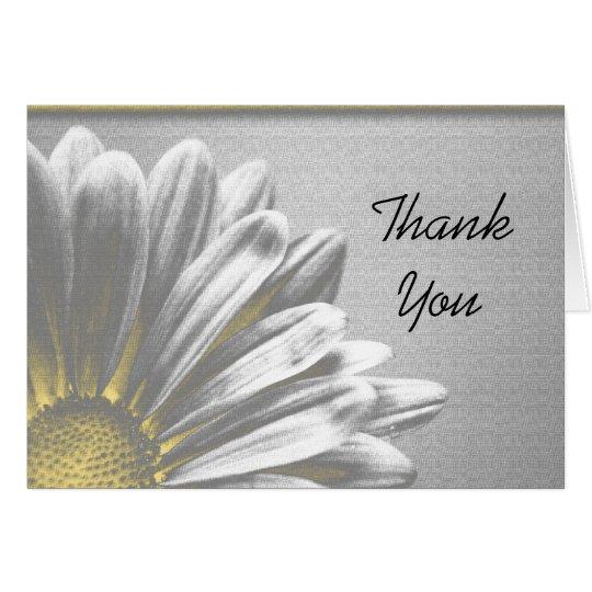 Yellow Floral Highlights Bridesmaid Thank You Card