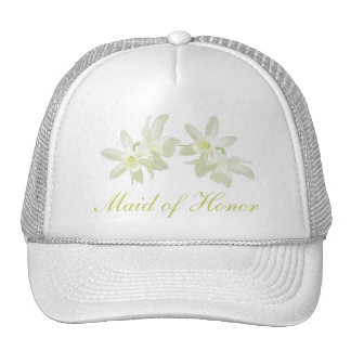 Yellow Floral Maid of Honor Hat