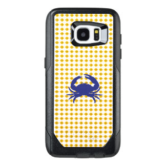 Yellow-Floral-Mod-Blue-Crab-APPLE-SAMSUNG OtterBox Samsung Galaxy S7 Edge Case