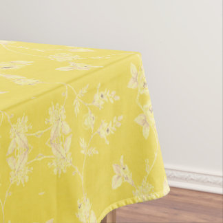 Yellow Floral Pattern Tablecloth