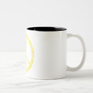 Yellow Floral Peace Mug