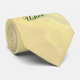 Yellow Floral Usher Tie