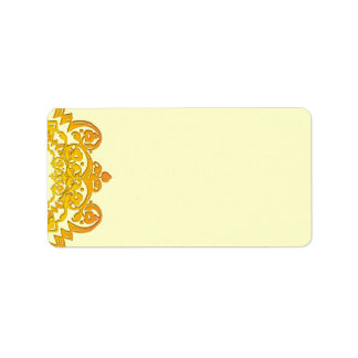 Yellow Floral Vintage Art Blank Address Labels