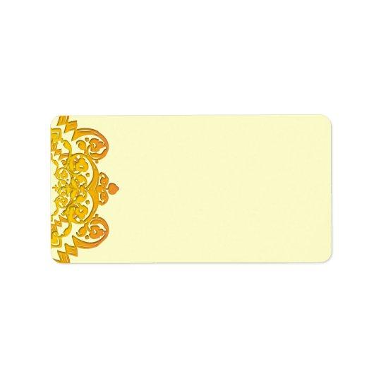 Yellow Floral Vintage Art Blank Address Labels