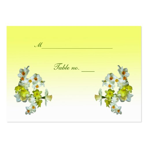 Yellow Floral Wedding Escort Card Business Card Templates