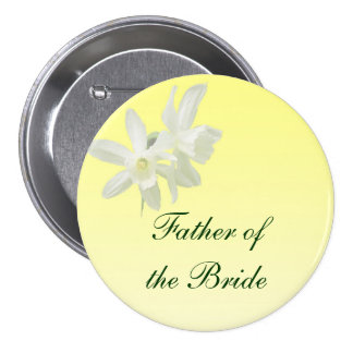 Yellow Floral Wedding Father of the Bride Pin