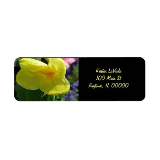 Yellow Flower Address Label