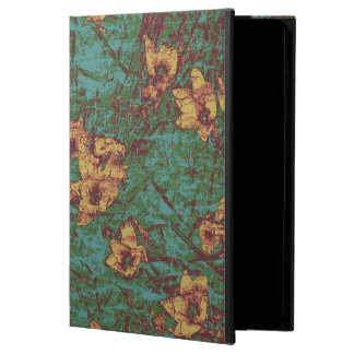 Yellow flower against leaf camouflage pattern 2 case for iPad air