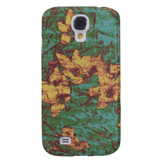 Yellow flower against leaf camouflage pattern 2 galaxy s4 case