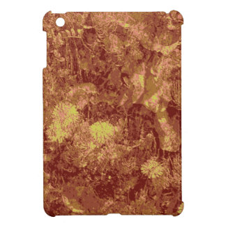 Yellow flower against leaf camouflage pattern case for the iPad mini
