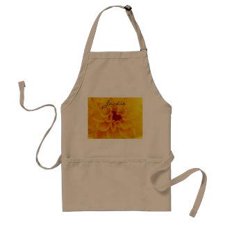 yellow flower apron