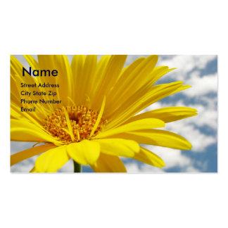 Yellow Flower Business Card Template