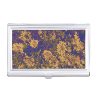 Yellow flower business card holder