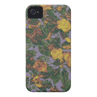 Yellow flower camouflage pattern Case-Mate iPhone 4 case