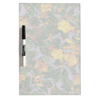 Yellow flower camouflage pattern dry erase board