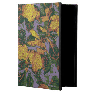 Yellow flower camouflage pattern iPad air covers