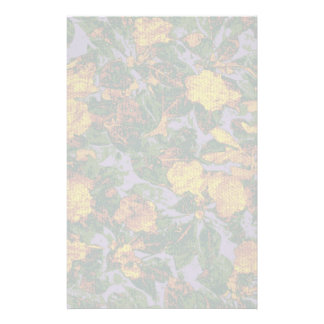 Yellow flower camouflage pattern stationery